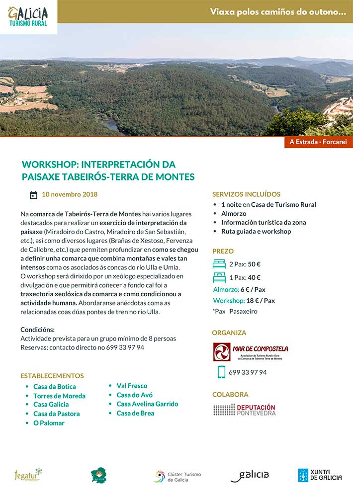 Workshop Interpretacion da paisaxe Tabeiros Terra de Montes